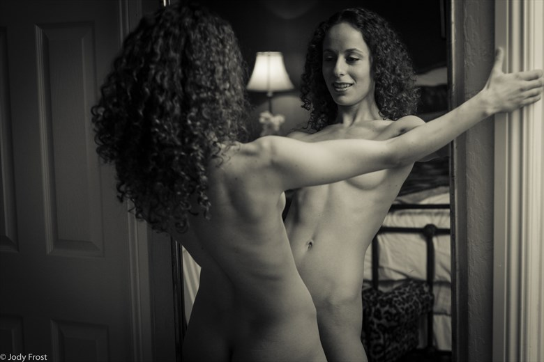 B at the Mirror 2 Artistic Nude Photo by Photographer jody frost