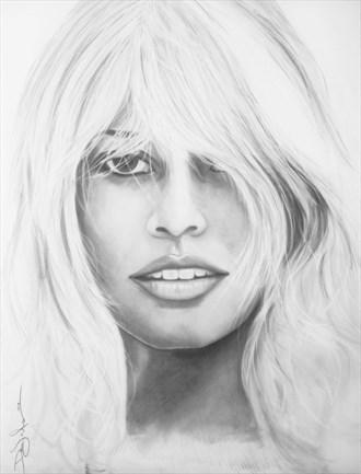 BB Glamour Artwork by Artist DML ART