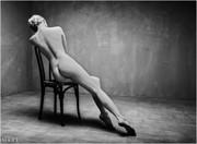 Back Artistic Nude Photo by Model Carla Monaco