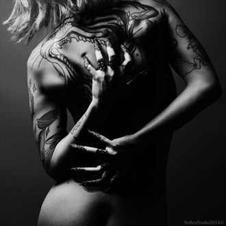 Back in black Tattoos Photo by Model Miele Rancido