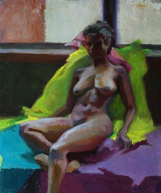 Backlight (Palette Knife Study) Artistic Nude Artwork by Artist JFisher86