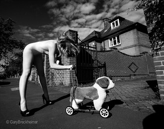 Bad Dogs Artistic Nude Photo by Model Helen Stephens