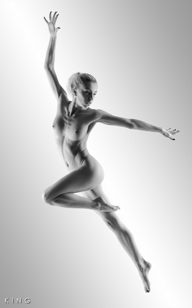 Ballet Leap Artistic Nude Photo by Photographer Terry King