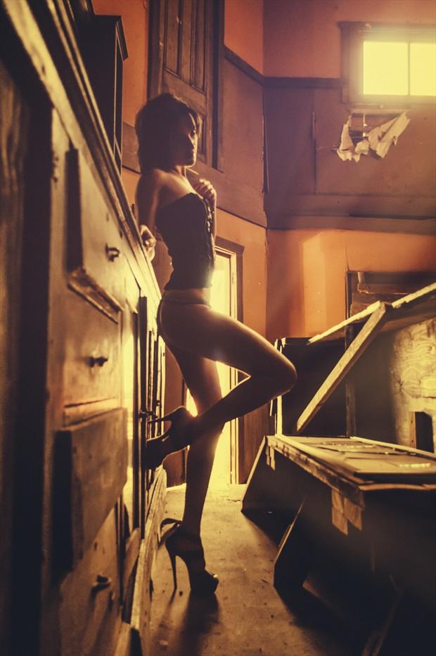 Bar Maid Lingerie Photo by Model Shaun Tia