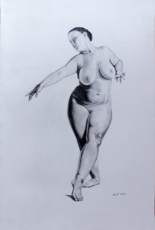 Barbados Pearl No.19 Artistic Nude Artwork by Artist Chuck Miller