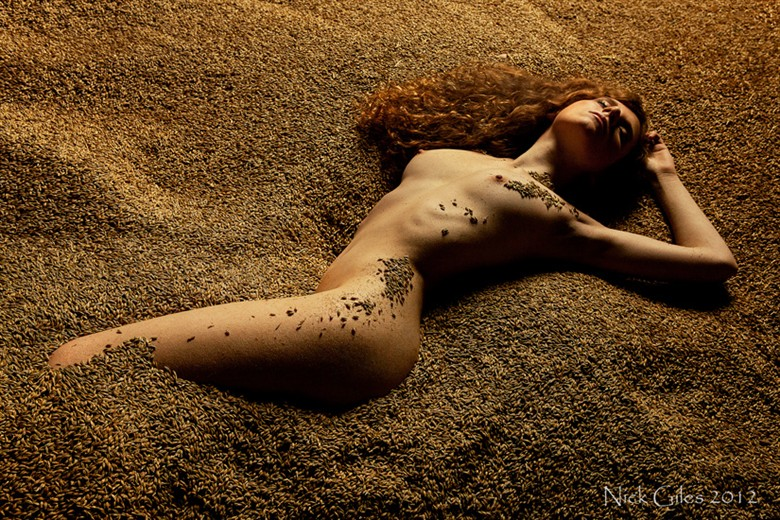 Barley by Nick Giles Artistic Nude Photo by Model Jen Somerfield