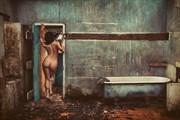 Bath Time Artistic Nude Photo by Model Leaf