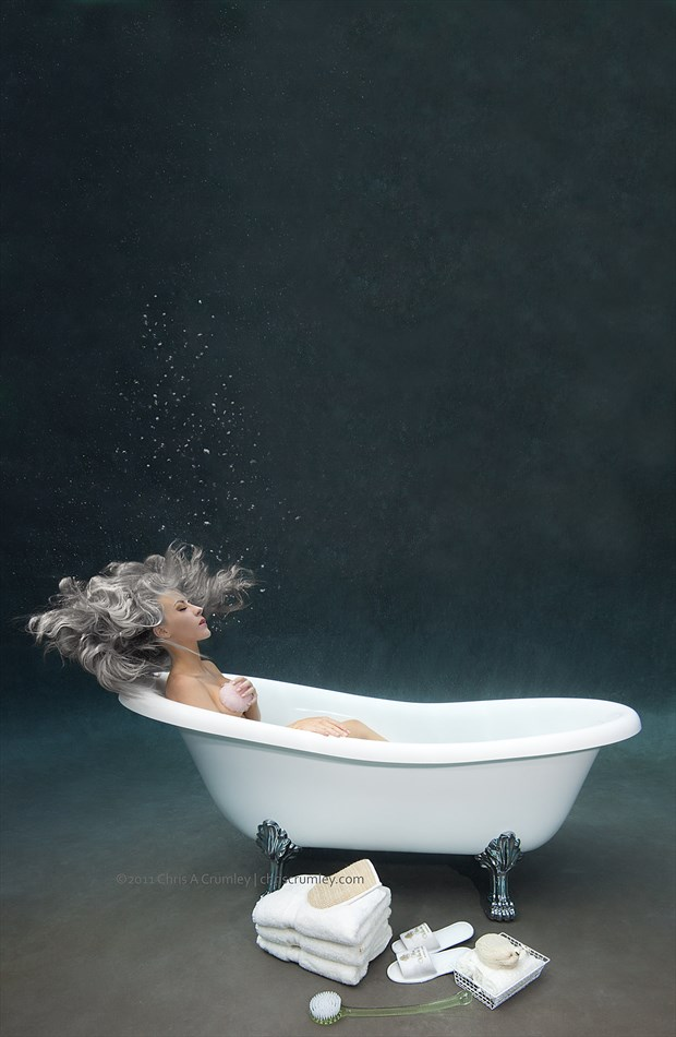 Bathtub Bathing Underwater Studio Lighting Photo by Photographer anguschristopher