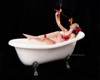 Bathtub Fire Eater Studio Lighting Photo by Photographer anguschristopher