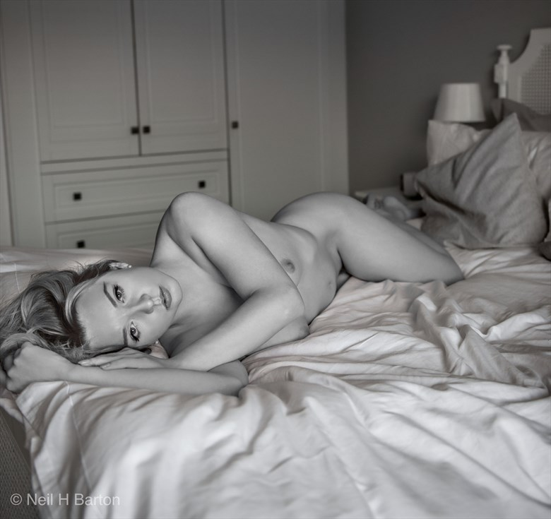 Beauty On The Bed Artistic Nude Photo by Photographer NeilH