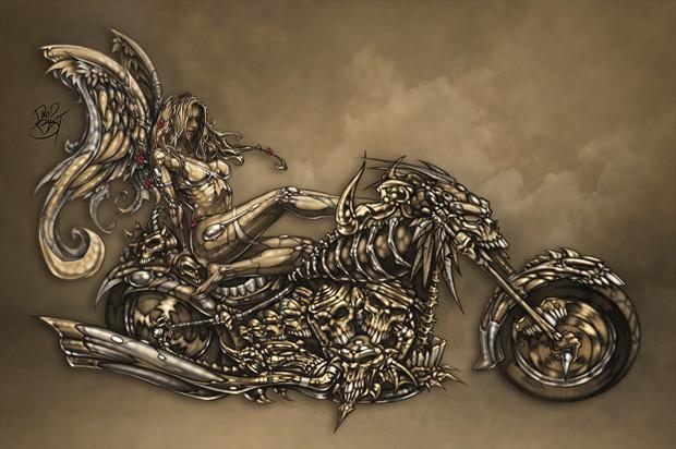 Beauty and the Beast Fantasy Artwork by Artist David Bollt