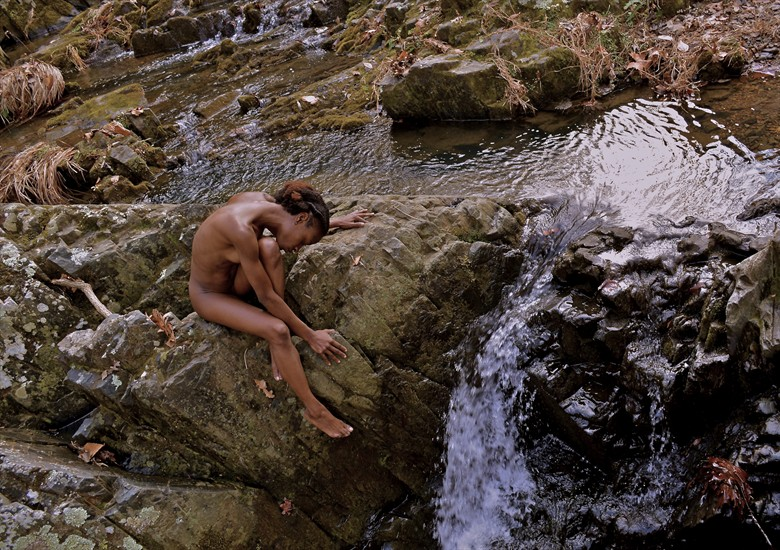 Beauty at the Falls Artistic Nude Photo by Photographer TroubadudeProduction