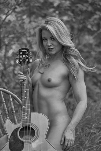 Becca and guitar Artistic Nude Photo by Photographer Daniel Tirrell photo