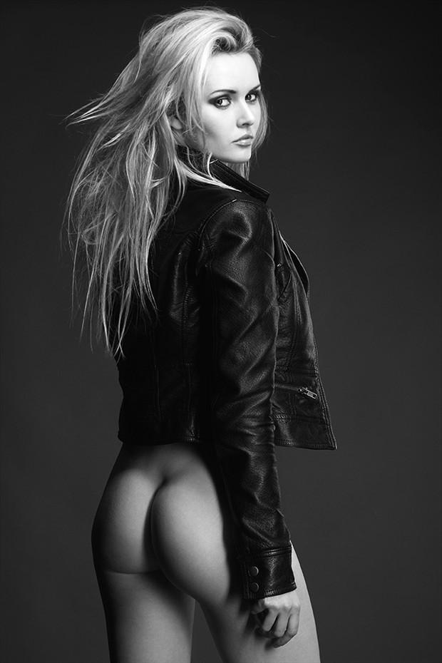 Behind Erotic Photo by Model Carla Monaco