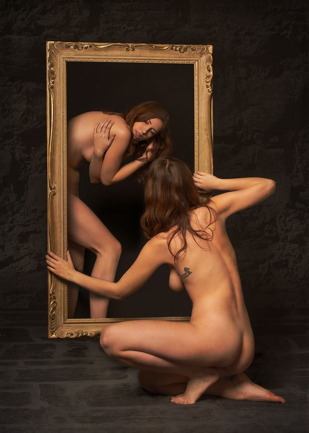 Bent Identity Artistic Nude Artwork by Photographer Fischer Fine Art