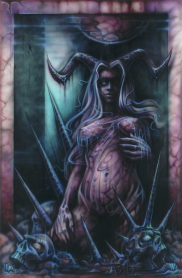 Black Amber Fantasy Artwork by Artist David Bollt