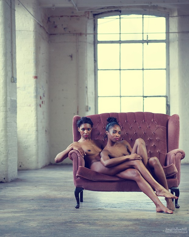 Black Beauties in the Mill Artistic Nude Photo by Photographer jimathallammill