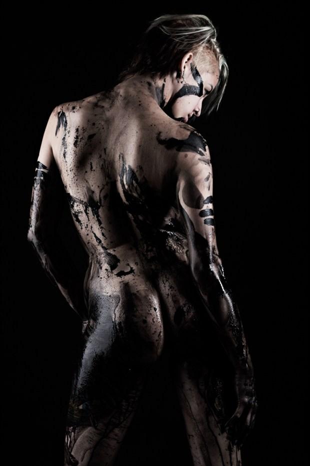 Black Body Suit Artistic Nude Artwork by Photographer subtleshades