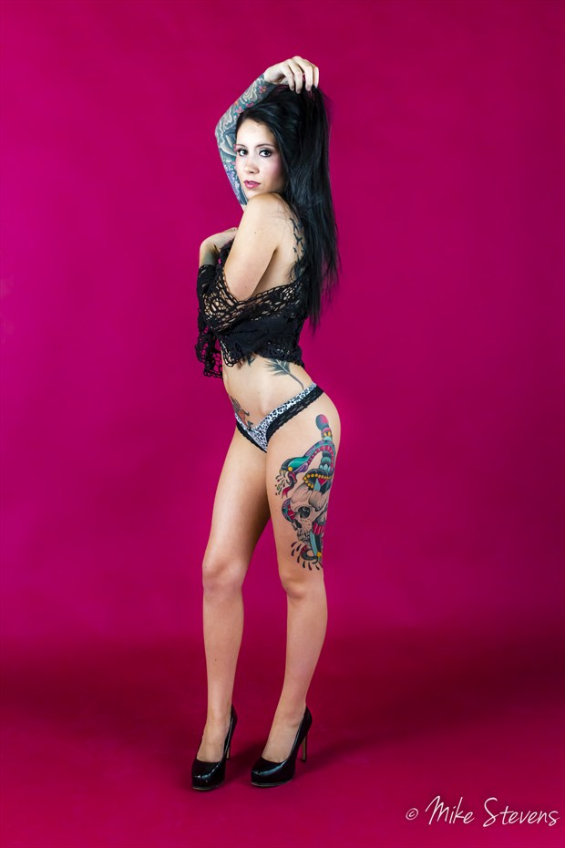 Black Lace Tattoos Photo by Photographer Mike Stevens