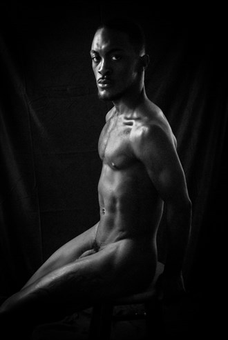 Black Solitude Artistic Nude Photo by Photographer Halban Photography