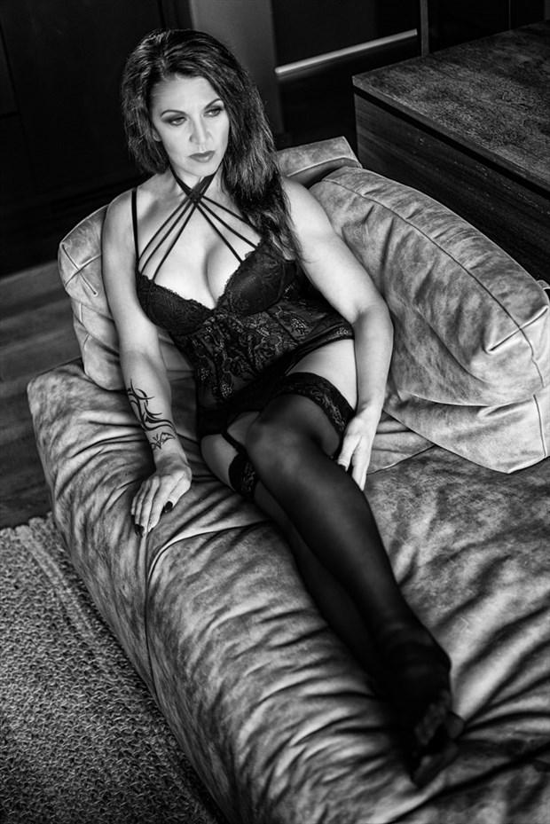 Black lace Lingerie Photo by Model Josie03