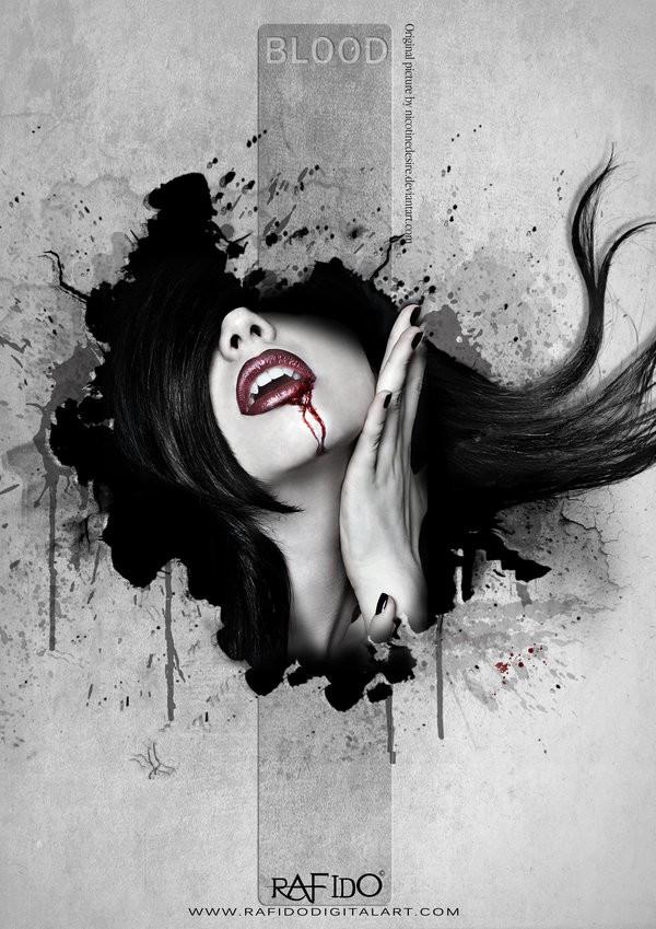 Blood Photo Manipulation Photo by Artist RAFIDO