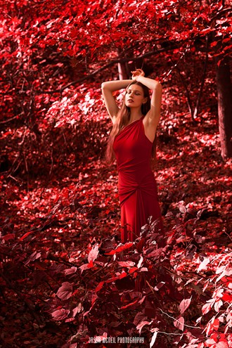 Blood on the Leaves Nature Photo by Model Satine Lynn