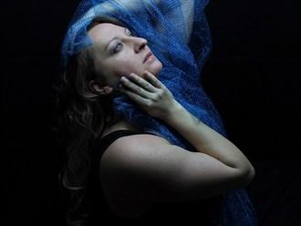 Blue 2 Chiaroscuro Photo by Model Curvy Krista