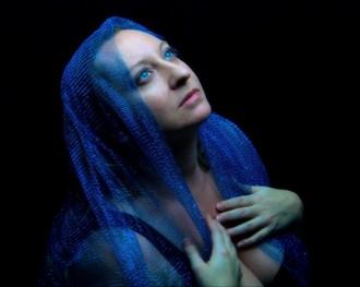Blue 3  Chiaroscuro Photo by Model Curvy Krista
