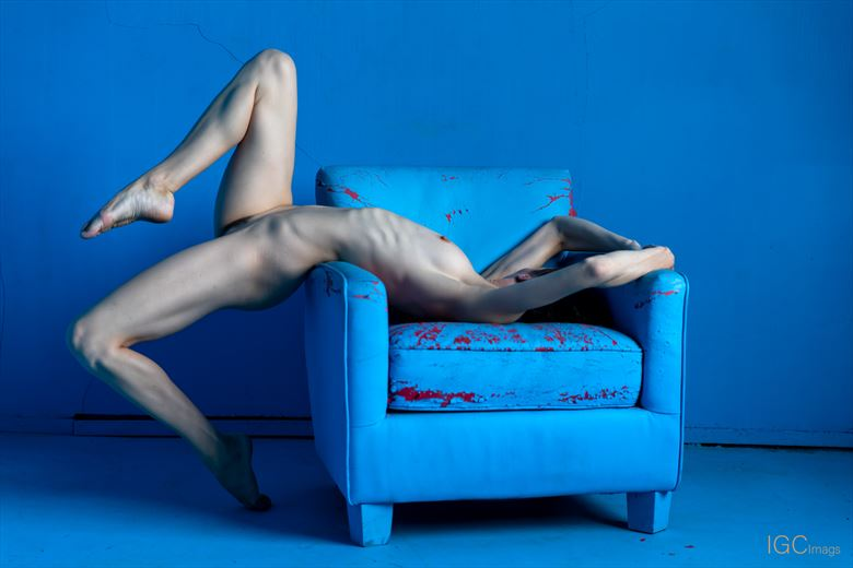Blue Chair 5 Artistic Nude Photo by Photographer IGC Images