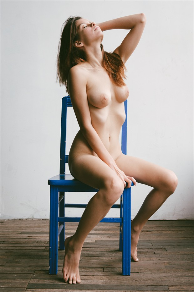 Blue Chair Artistic Nude Photo by Model S nia