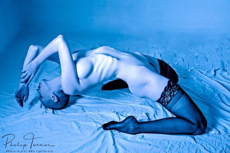 Blue Dream Artistic Nude Photo by Photographer Philip Turner