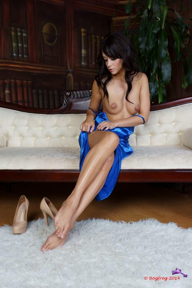 Blue Dress V Erotic Photo by Photographer Bogfrog