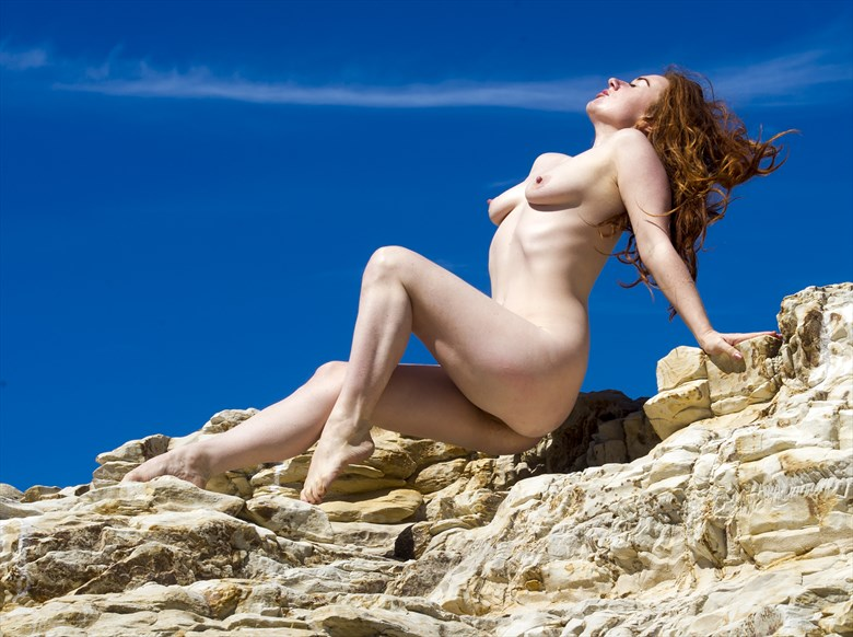 Blue Sky Figure Study Photo by Photographer Eric Lowenberg