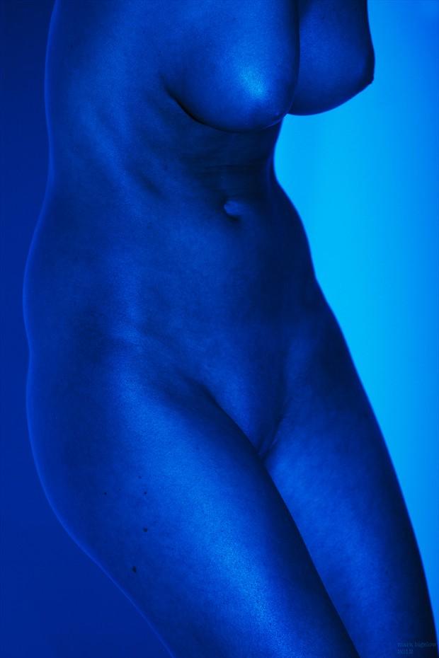 Blue Torso II Artistic Nude Photo by Photographer Mark Bigelow