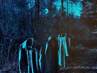 Blue balloon Surreal Artwork by Photographer Katarzyna Wieczorek