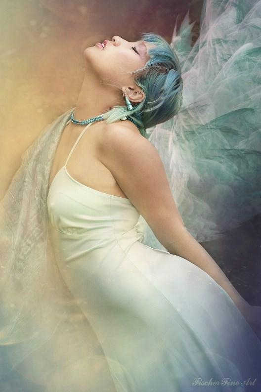 Blue fairy Fantasy Artwork by Photographer Fischer Fine Art