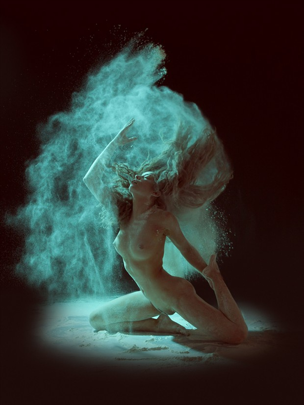 Blue ish Artistic Nude Photo by Photographer Scott Michaels