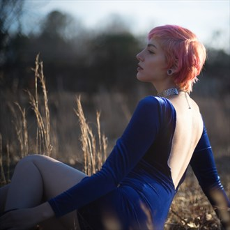 Blue velvet  Nature Photo by Model Alicia Red