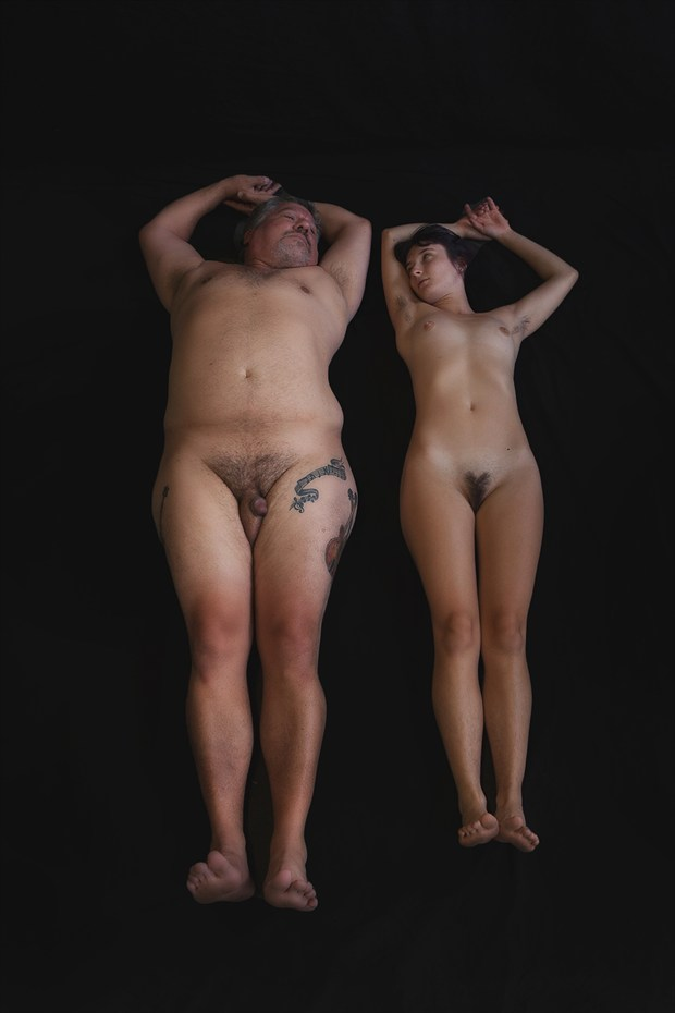 Bodies in Contrast Artistic Nude Photo by Model David L