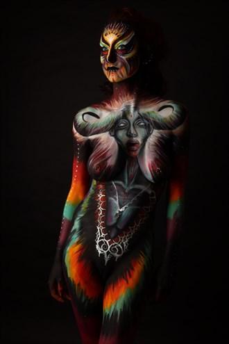 Body Painting Artwork by Model Audrey Benoit