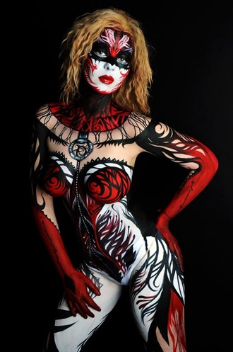 Body Painting Artwork by Model Jessica Ann