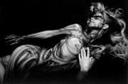 Body Painting Implied Nude Photo by Model Shades of Amber