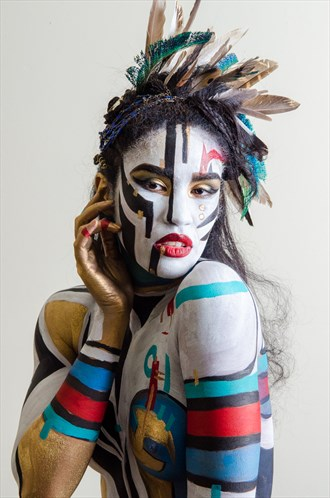Body Painting Studio Lighting Photo by Photographer marcustaylorphotography