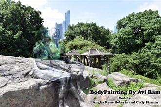 Bodypaint by Avi Ram Artistic Nude Artwork by Model Angela Ren%C3%A9 Roberts