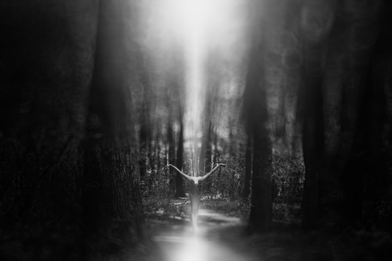 Born of Light Artistic Nude Artwork by Photographer Marian Sztrecsko
