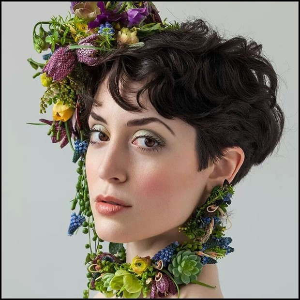 Botanical Couture Glamour Photo by Model Ammalynn
