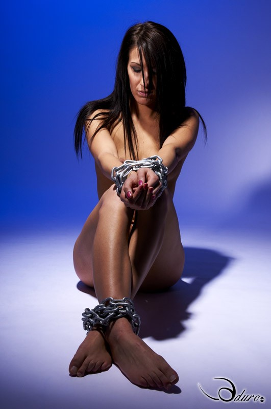 Bound in Chains Artistic Nude Photo by Photographer Aduro