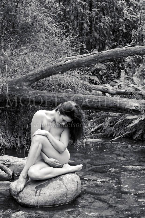 Bree in Stream Artistic Nude Photo by Photographer John Matthews