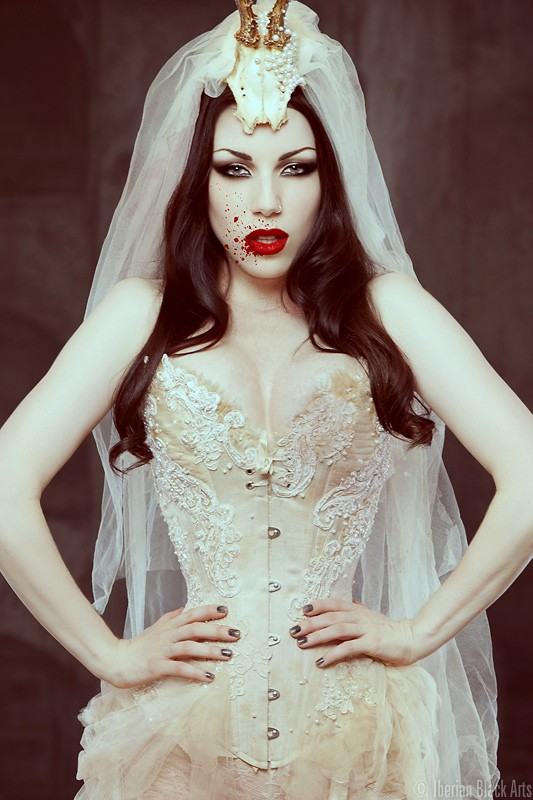 Bride of Dracula Lingerie Photo by Model Morgana